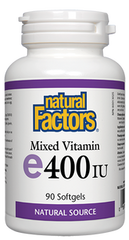 Natural Factors Vitamin E Mixed 400IU 90 Softgels