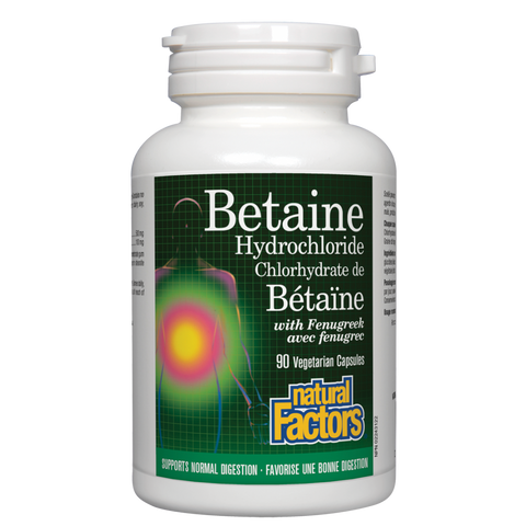 Natural Factors Betaine Hydrochloride Capsules