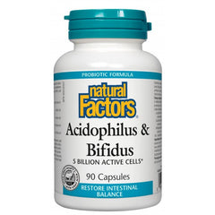 Natural Factors Acidophilus / Bifidus 5 Billion Capsules | Probiotics | Natural Factors