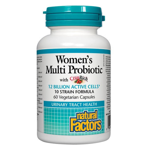 Natural Factors Womens Multi Probiotic 12 Billion Cranrich 60 veggie capsules