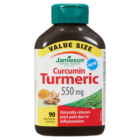 Jamieson Curcumin Turmeric 550 MG - Body Energy Club
