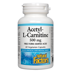 Natural Factors Acetyl L-Carnitine 500mg | Amino Acids & BCAA's | Natural Factors