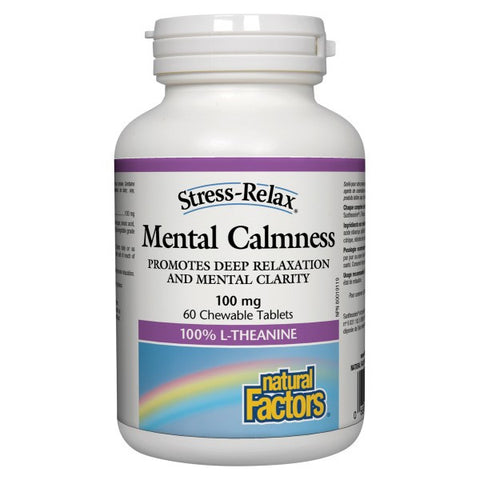 Natural Factors Stress-Relax Mental Calmness 100mg