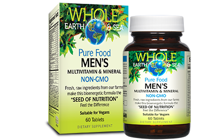 Whole Earth & Sea Men's Multivitamin | Men's Multivitamins | Natural Factors