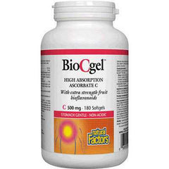 Natural Factors BioCgel Buffered Vitamin C Softgels