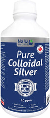 Naka Platinum Pure Colloidal Silver 10 Ppm - 600 ml | Immune Support | Naka Herbs