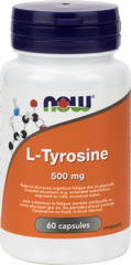 NOW L-Tyrosine 500mg | Brain & Cognitive Function | NOW Foods
