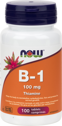 NOW B1 (Thiamine) 100mg - Body Energy Club