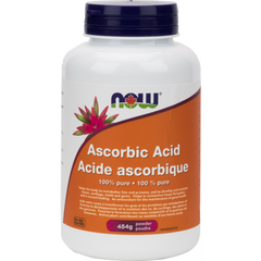 NOW Ascorbic Acid 100% Pure Vitamin C Powder - Body Energy Club