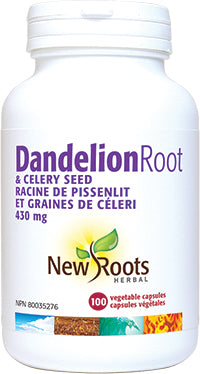 New Roots Dandelion Root & Celery Seed 430mg 100 Capsules