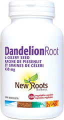 New Roots Dandelion Root & Celery Seed 430mg - Body Energy Club