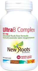 New Roots Ultra B Complex 50mg Capsules | Energy, Fatigue | New Roots
