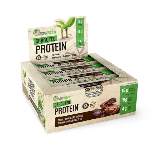 Iron Vegan Protein Bars By Case - Body Energy Club | Double Chocolate Brownie