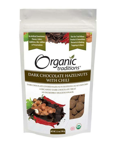 Organic Traditions Chocolate Hazelnuts with Chili | Nuts & Seeds | Organic Traditions