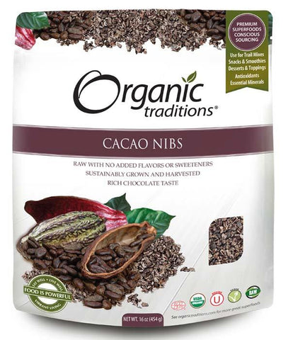 Organic Traditions Cacao Nibs 454g - Body Energy Club