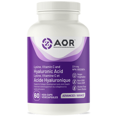 AOR Lysine, Vitamin C and Hyaluronic Acid 224mg 60 veggie Caps