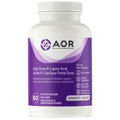 AOR High Dose R-Lipoic Acid 300mg 60 vegetable capsules