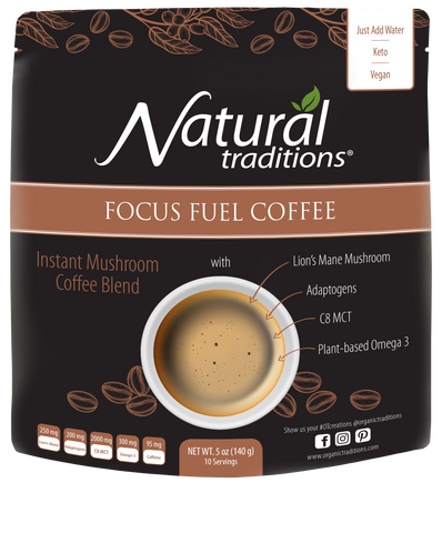 Organic Traditions Focus Fuel Coffee 140g - Body Energy Club