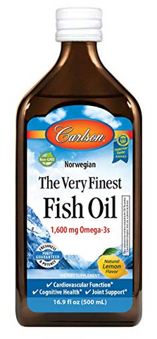 Carlson Fish Oil Omega-3 Lemon