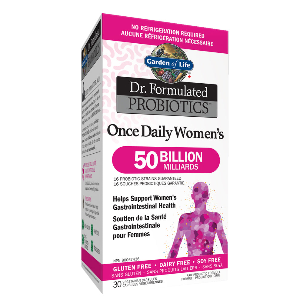 Garden Of Life Dr Formulated Probiotics Once Daily Women S 50 Billion Shelf Stable Body Energy Club