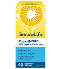 Renew Life DigestMORE HCL | Digestion, Stomach | Renew Life