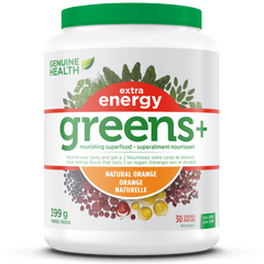 Genuine Health Greens+ Extra Energy Natural Orange