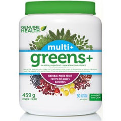 Genuine Health Greens+ Multi+ Mixed Fruit 459g | Greens | Genuine Health