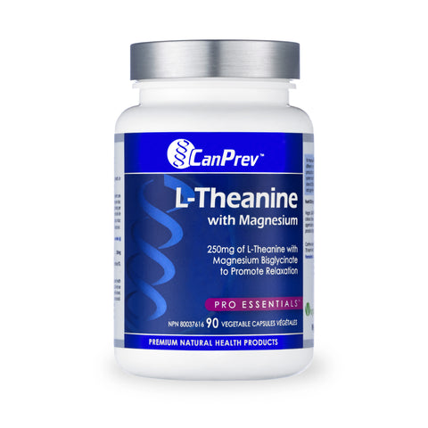 CanPrev L-Theanine With Magnesium 90 Capsules