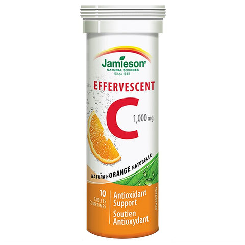 Jamieson Effercescent Vitamin C 1000mg 10 Tablets | Vitamin C | Jamieson