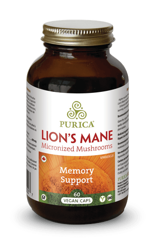 Purica Lion's Mane Vegetarian Capsules | Brain & Cognitive Function | Purica