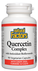 Natural Factors Quercetin Complex with Grape Seed, Turmeric & CoQ10 | Antioxidants | Natural Factors