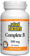 Natural Factors Complete B 100mg Time Release Tablets | Vitamin B | Natural Factors