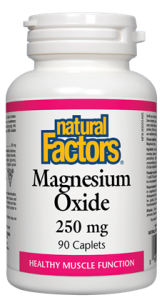 Natural Factors Magnesium Oxide 250mg | Calcium & Magnesium | Natural Factors