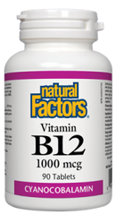 Natural Factors Vitamin B12 Cyanocobalamine 1000mg | Vitamin B | Natural Factors