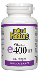 Natural Factors Vitamin E 400IU 180 softgels