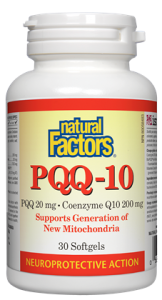 Natural Factors PQQ-10 30 Softgels