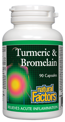 Natural Factors Turmeric & Bromelain | Inflammation | Natural Factors
