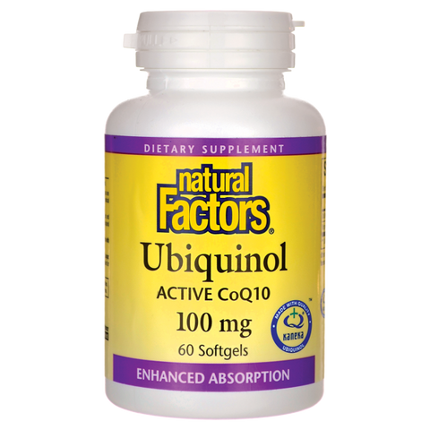 Natural Factors Ubiquinol Active CoQ10 100mg Softgels