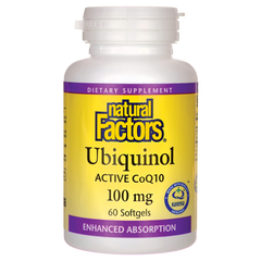 Natural Factors Ubiquinol Active CoQ10 100mg Softgels | Antioxidants | Natural Factors