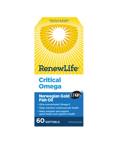 Renew Life Critical Omega 60 soft gels