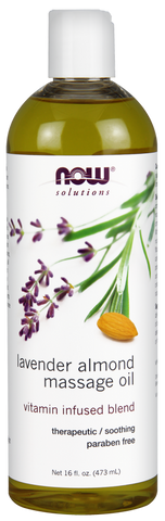 NOW Lavender-Almond Massage Oil - Body Energy Club