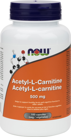 NOW Acetyl-L-Carnitine 500mg - Body Energy Club
