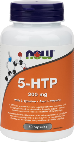 NOW 5-HTP 200mg with Tyrosine | Depression & Anxiety | NOW Foods