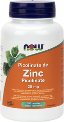 NOW Zinc Picolinate 25mg - Body Energy Club