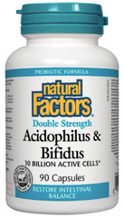 Natural Factors Acidophilus / Bifidus 10 Billion Capsules | Probiotics | Natural Factors