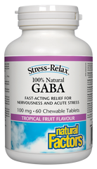 Natural Factors GABA 100mg Chewable Tablets | Testosterone Boosters | Natural Factors