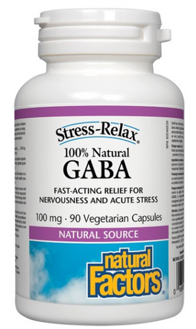 Natural Factors GABA 100mg