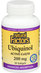 Natural Factors Ubiquinol Active CoQ10 200mg Softgels - Body Energy Club