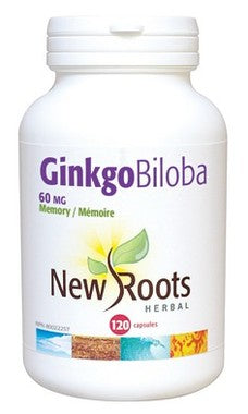 New Roots Ginkgo Biloba 60mg - Body Energy Club