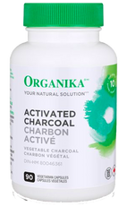 Organika Activated Charcoal 90 Vegetable Capsules